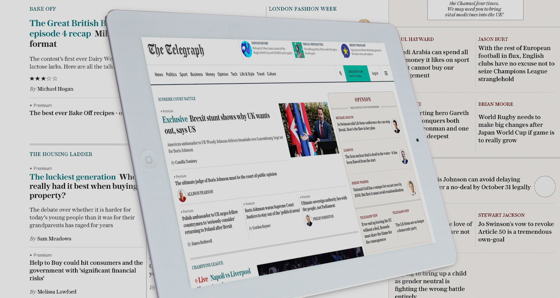 How The Telegraph built a home page for engagement