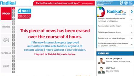 Radikal #4Hours Against Internet Censorship in Turkey