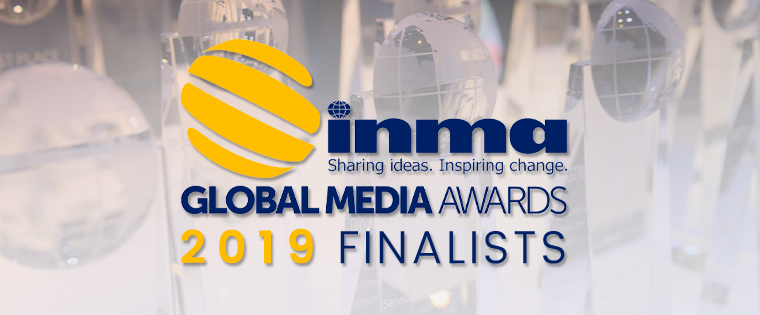 A global panel of judges just completed a deep dive into this year's 664 entries from 165 media companies in 34 countries. From the 194 finalists announced today, 40 first-place winners will be chosen on May 17 at the annual INMA World Congress of News Media in New York.