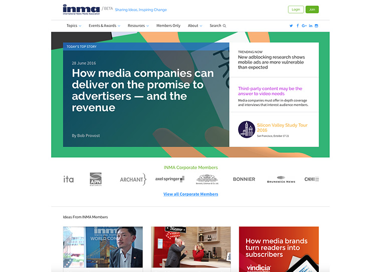 The revamped INMA.org has been more than a year in the making.