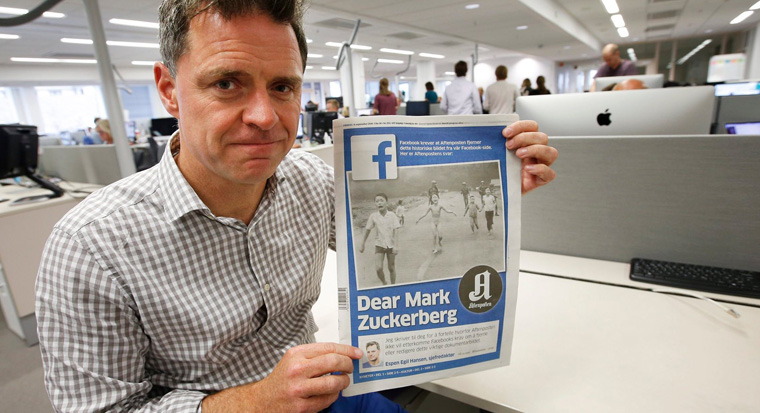 Espen Egil Hansen, editor-in-chief/CEO of Aftenposten, wrote a very public letter to Facebook's Mark Zuckerberg.
