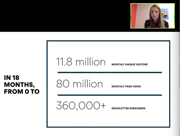 Axios has grown its audience quickly, to nearly 12 million monthly unique visitors.
