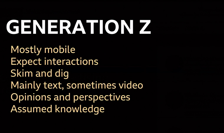 Some key findings in BBC audience research about Generation Z.