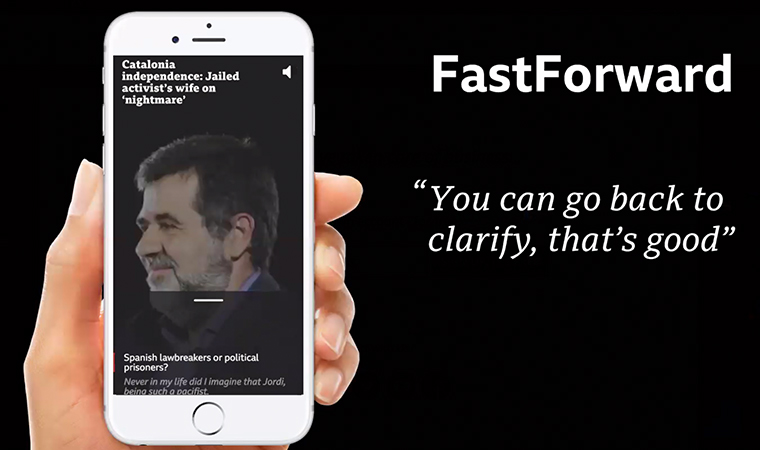 The FastForward prototype allows the user to skip forward or backward through a video.