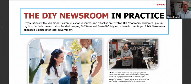 The Australian Football League, among others, are examples of non-news organisations with a DIY newsroom.