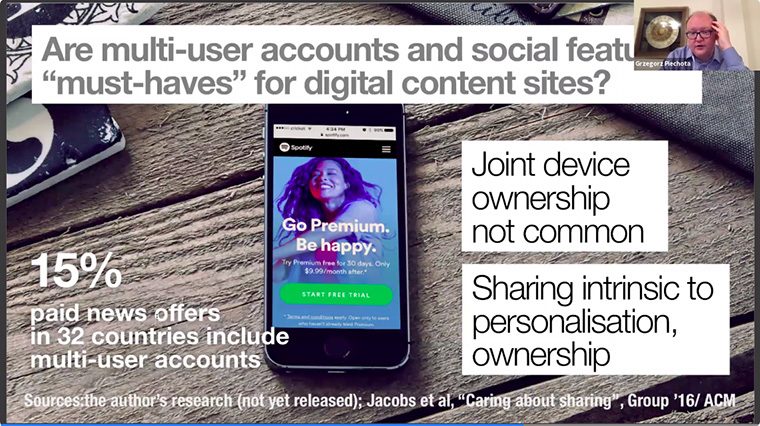 Multi-user account and social sharing are extremely important to the user experience.