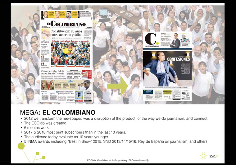 One of the first projects that ECOLab undertook was the redesign of the El Colombiano Web site.
