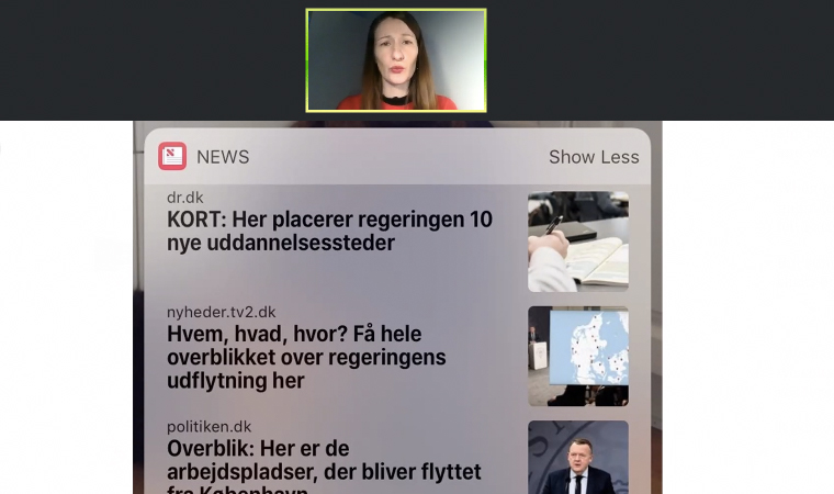 The second day of the Facebook detox, TV Midtvest was featured on Apple News.