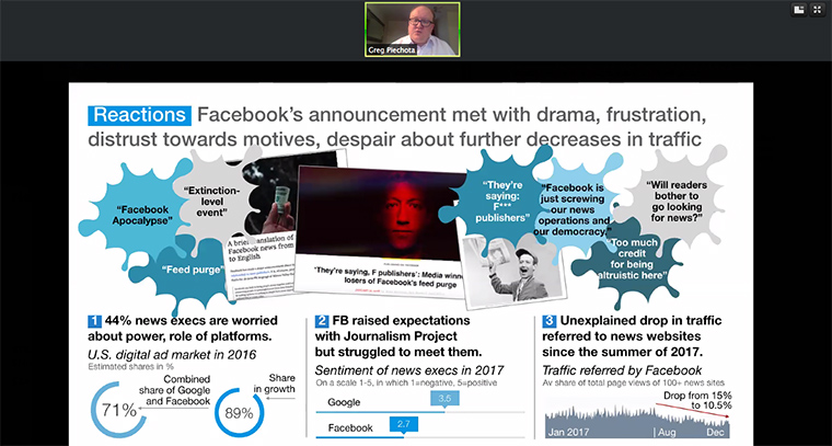 Grzegorz Piechota addressed the Facebook News Feed changes and what publishers can do about them.