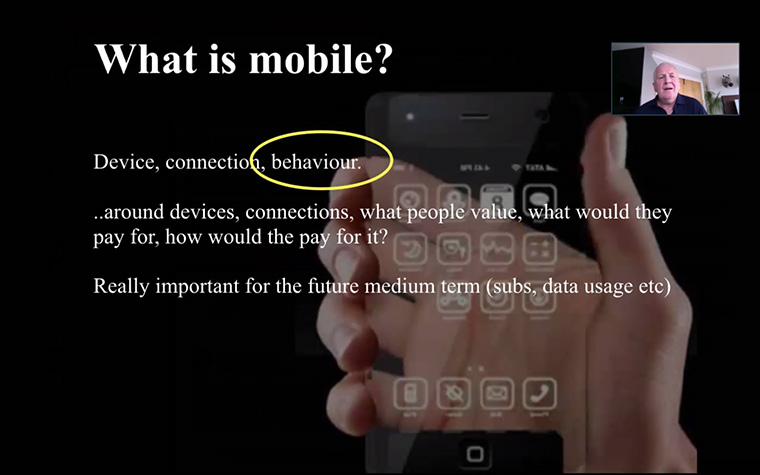 Mark Challinor challenged Webinar attendees to consider what mobile really means.