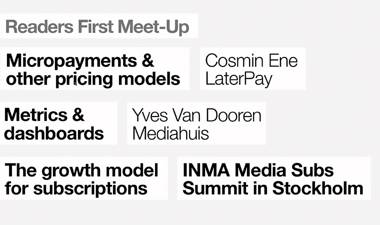 This INMA Readers First Meet-Up concentrated on micropayments and metrics.