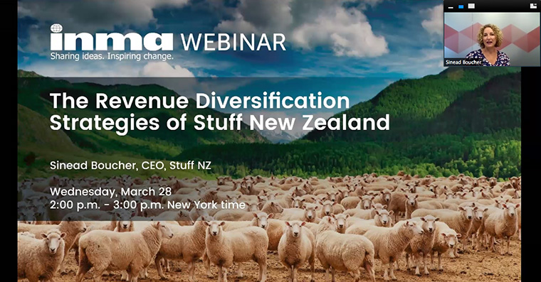 Sinead Boucher outlines the revenue diversification strategy of Stuff New Zealand.