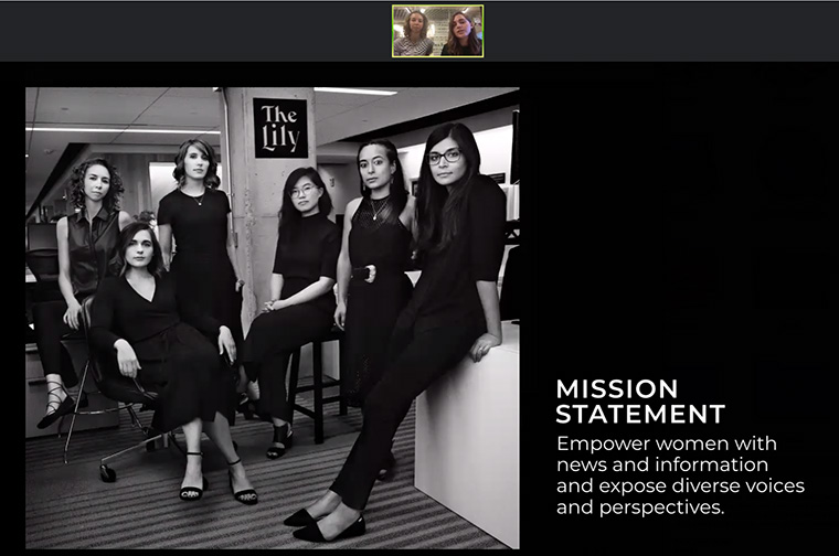 The Team Lily photograph was styled after the Time Magazine Person of the Year 2017 shoot.