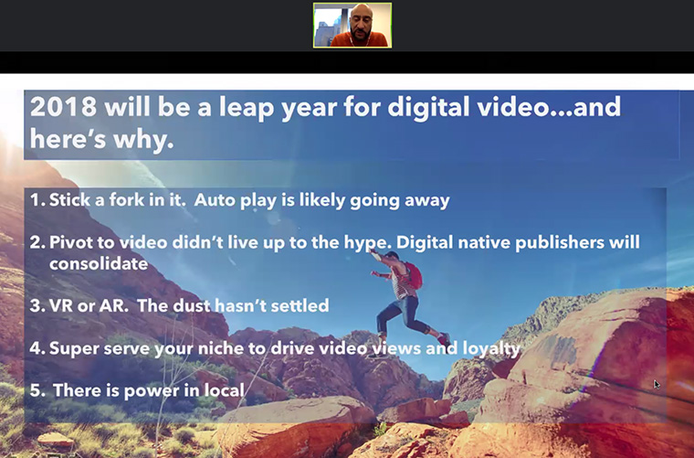 2018 will be a major year for digital video, for several reasons.