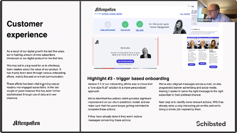 Through trigger-based onboarding actions, Aftenposten improves the customer experience.