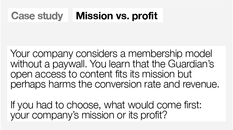 Is company mission or profit more important?
