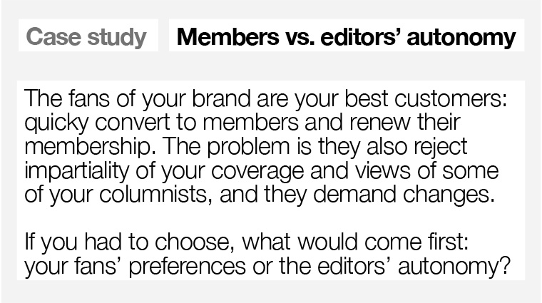 Is fan preference or editorial autonomy more important?