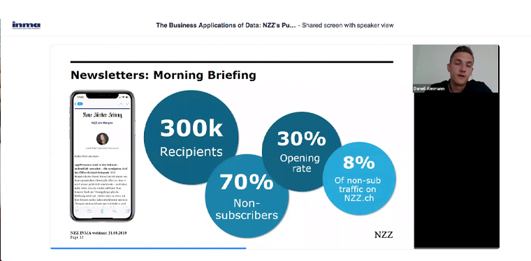 Morning Briefing is one of NZZ's most successful newsletters.