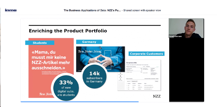 NZZ has enriched its product portfolio with verticals such as student and corporate subscriptions.