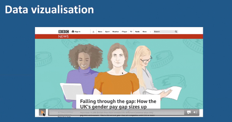 The gender pay gap was a piece of BBC reporting that heavily utilised data from the data journalism team.