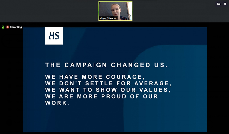 How the campaign changed Helsingin Sanomat as a company.