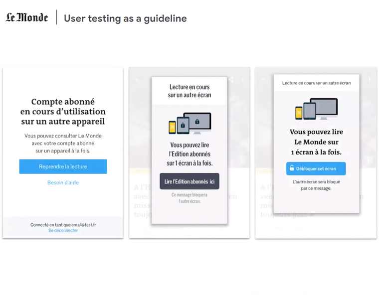 Le Monde began user testing of its new model in December 2019.