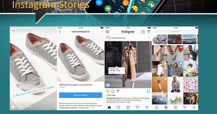 Instagram Stories and shopping in the app are both growing in popularity.
